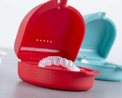 Two mouth guards in their case